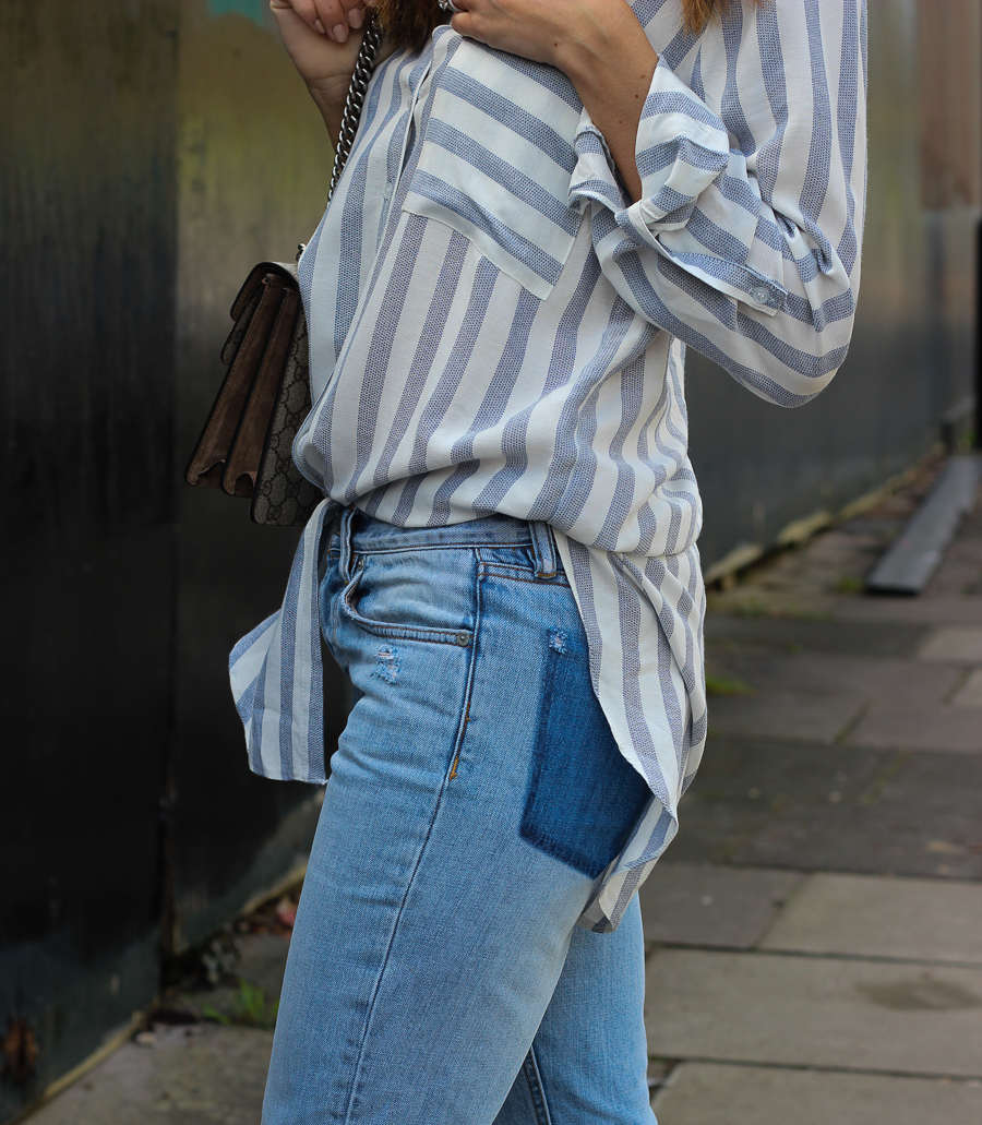Clutch and carry on - uk fashion blogger - uk travel blogger - sabrina chakici - matalan striped shirt, all saints boyfriend jeans, gucci dionysus supreme-21