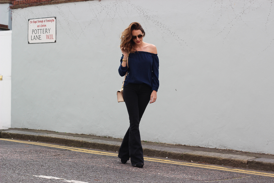 Clutch and carry on - uk fashion blogger - uk travel blogger - sabrina chakici - mango off shoulder top, london street style, sophie hulme oat-18