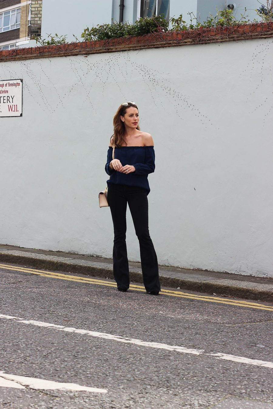 Clutch and carry on - uk fashion blogger - uk travel blogger - sabrina chakici - mango off shoulder top, london street style, sophie hulme oat-19