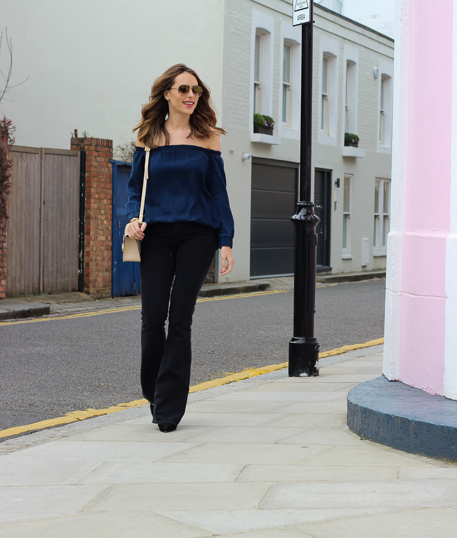 Clutch and carry on - uk fashion blogger - uk travel blogger - sabrina chakici - mango off shoulder top, london street style, sophie hulme oat-37