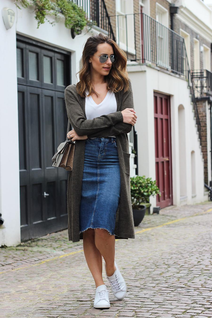 Clutch and carry on - uk fashion blogger - uk travel blogger - sabrina chakici - matalan cardigan, zara denim midi skirt, gucci dionysus supreme-6