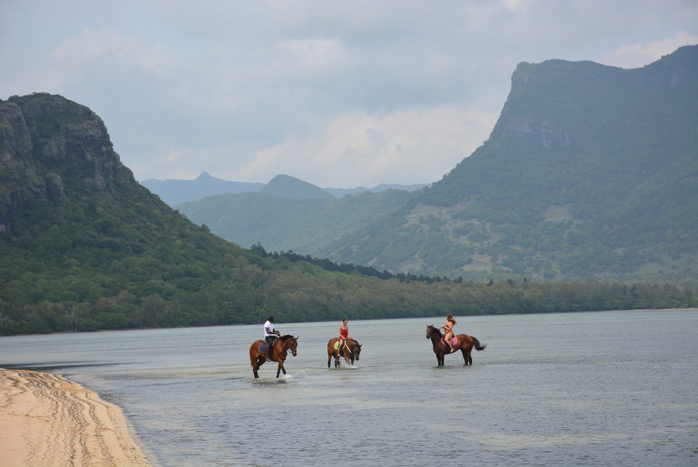 Clutch and carry on - Mauritius travel blog - horse riding on the beach Mauritius