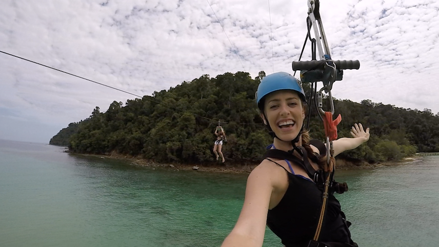 5 amazing things to do in Borneo, Coral Flyer Zip Line