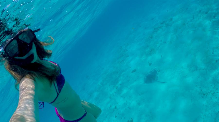 Sabrina Chakici - Sting Ray Snorkel Tabago Cays
