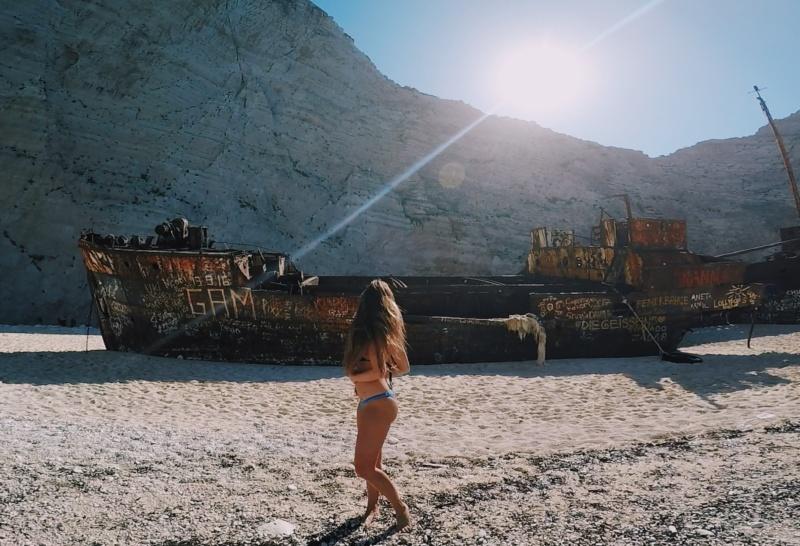 Navagio shipwreck beach